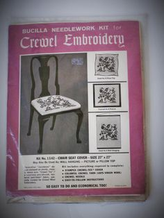 Bucilla Jacobean Crewel Embroidery Kit by dazzledbyvintage on Etsy