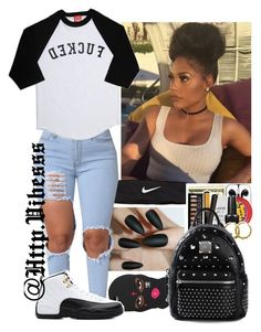 """Untitled #918"" by jazaiah7 ❤ liked on Polyvore featuring NIKE, TAXI and MCM"