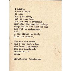 So beautiful. There is a part of myself I don't share very much that loves words like these. I like to believe in them.