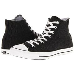 Converse Chuck Taylor® All Star® Hi Winter Weight Material ($48) ❤ liked on Polyvore featuring shoes, sneakers, converse, sapatos, metallic sneakers, grip trainer, high top sneakers, converse high tops and all star sneakers