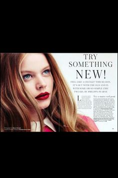 Spring 2013 Matte Red, Try Something New, Hair Ideas, Hair Makeup, Feelings, Spring, Simple, How To Make, Party Hairstyles