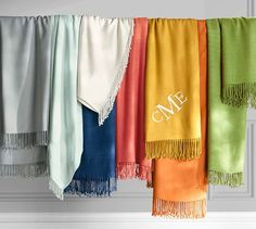 Monogrammable Throw from Pottery Barn is a really nice graduation gift. The perfect couch blanket!
