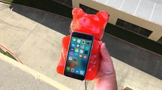 Can Worlds Largest Gummy Bear Protect iPhone 6 from 100 FT Drop? - Gizmo...