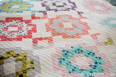 Quilty Love | City Tiles Quilt {The scrappy cotton and steel version | http://www.quiltylove.com