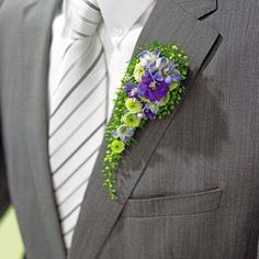 Wedding Boutonniere Designed by Manfred Hoffmann Groomsmen Boutonniere, Corsage And Boutonniere, Boutonnieres, Wedding Boutonniere, Bride Bouquets, Bridesmaid Bouquet, Ikebana, Button Holes Wedding, Flower Corsage