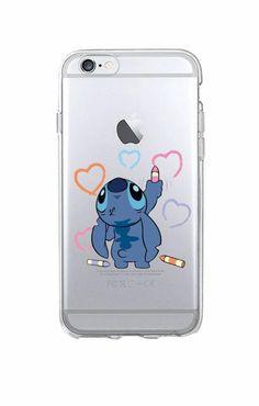 Funny Cute Stitch Cartoon Emoji Soft TPU Clear Phone Case Fundas Coque For iPhon. Disney Phone Cases, Cute Phone Cases, Cute Cases, Diy Iphone Case, Iphone Phone Cases, Cellphone Case, Coque Iphone 5c, Capas Iphone 6, Cute Stitch