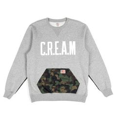 Wutang Brand Ltd Spray Camo Crewneck in Heather | Wutang Clan Official Website | Shop Wutang Clan Winter Clothes & Apparel Online