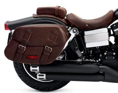 Tired of biker black? What something different for your motorcycle? Harley-Davidson Genuine Motor Accessories is introducing a line of distressed brown leather accessories Motorcycle Accessories, Leather Accessories, Car Accessories, Harley Fatboy, Harley Davidson Dyna, Honda Shadow 1100, Best Motorbike, Motorcycle Saddlebags, Bike Leathers