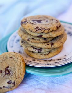 """I am always on the hunt for a new way to make chocolate chip cookies. There have been many posts here on """"The Daily Dish"""" dedicated to this ever so indulgent treat: Milk Bar Compost Cookies- Chocolate chips and everything but the kitchen sink. Black and White Cake Mix Cookies- This dough is made with [...]"""