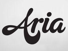 Aria - by Rob Clarke, #typography #script