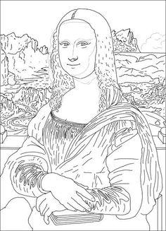 Arte para niños: Obras de Leonardo da Vinci para pintar y colorear