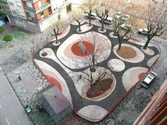 Garden Design Ideas : Dario Perez Square by Sergio Sebastián Landscape And Urbanism, Landscape Architecture Design, Space Architecture, Urban Landscape, Landscape Designs, Landscape Plaza, Landscape Architects, Modern Landscaping, Landscaping Ideas