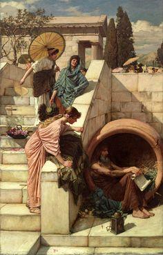 (Diogenes). 1882 John William Waterhouse