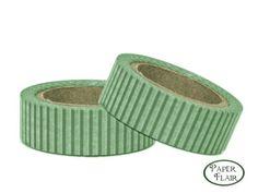 Masking Tape - Streifen - grün/weiß