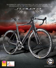 Silverback uses Solidworks 3D CAD software to  design & develop high performance frames such as the Scalera. #silverbacktechnologies #scalera #solidworks #3DCAD #bicycledesign #roadbikes #cycling