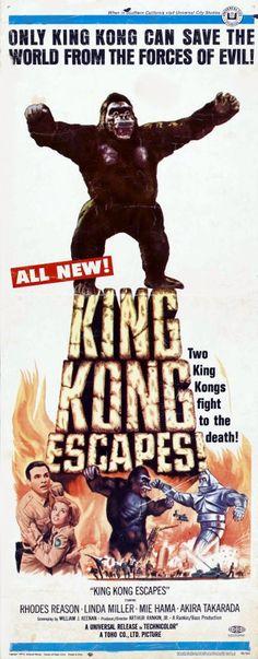 "King Kong Escapes (1967)  ""Kingu Kongu no gyakushû"" (original title) Stars: Rhodes Reason, Mie Hama, Linda Miller ~ Director: Ishirô Honda"