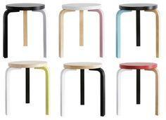 DIY idea: Paint Ikea stool looking like Alvar Aalto stool (this is the Alvar Aalto stool)