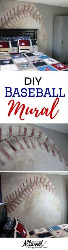 Baseball Mural - The Magic Brush Inc | Jennifer Allwood | Decorative painter | DIY | Business coach