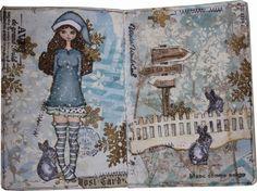 La fée de perlimpinpin: De l'Art Journal à la toile Art Journaling, Painting, Toile, Art Diary, Painting Art, Paintings, Performing Arts, Painted Canvas, Drawings