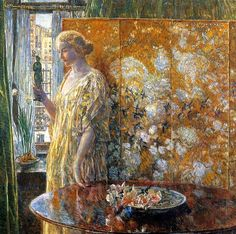 ☂ Paper Lanterns and Parasols ☂ Japonisme Art and Illustration - Childe Hassam