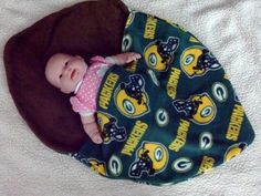 Green Bay Packers Fleece Infant Baby Carrier Cover made with Two ...