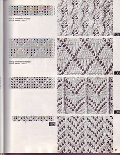 View album on Yandex. Lace Knitting Patterns, Knitting Stiches, Knitting Charts, Easy Knitting, Stitch Patterns, Crochet Shawl, Crochet Yarn, Crochet Girls, Knitting Projects