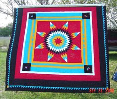 Pictures of Star Quilts to Inspire Your Next Project: Roberta's Pow Wow Quilt