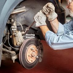 If you've put or more miles on your struts, they're worn out and must be replaced. We know they're expensive so save on struts cost. Car Rust Repair, Vehicle Repair, Bike Repair Stand, Car Fix, Light Film, Utility Trailer, Grand Caravan, Car Hacks, Car Engine