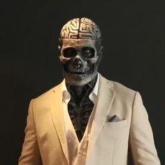 Halloween Skeletons, Halloween Horror, Halloween Masks, Halloween Party, Halloween Decorations, Halloween Stuff, Skeleton Mask, Skull Mask, Mascaras Halloween