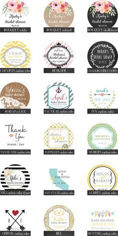 36 Mason Jar Labels // 2 Inch Round Labels Fit by thefavorbox Jar Design, Label Design, Canning Jar Labels, Candle Labels, Soap Labels, Personalized Mason Jars, Jar Packaging, Christmas Labels, Round Labels