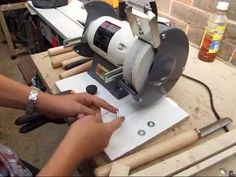 How to Use a Bench Grinder to Sharpen Tools Bench Grinder, Sharpening Tools, Safety Tips, Knife Block