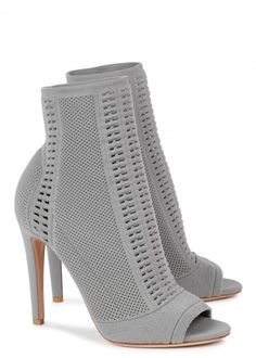 Vires grey stretch-knit ankle boots £710