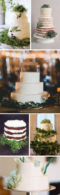 Lush Green & White Cakes
