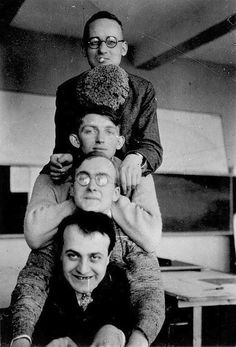 Bauhaus students, 1920s  Arieh Sharon second from top