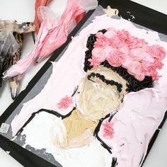 Frida Kahlo cake, really beautiful