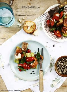 Panzanella with grilled figs