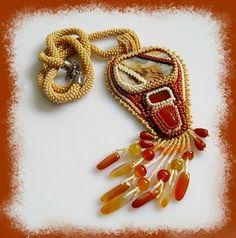www.polandhandmade.pl #polandhandmade #beading #zyanna  haft koralikowy, sznur szydełkowy