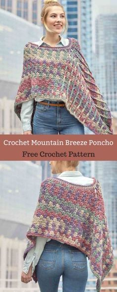 Crochet a poncho with a modern twist thanks to the soft, #freecrochetpattern #freecrochet #crochet3 #easycrochet #patterncrochet #crochettricks #crochetitems #crocheton #thingstocrochet