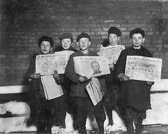 Newspaper Boys (Newsies) Albany NY 1910