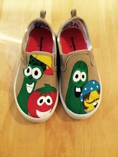 Shoes for my son's 3rd birthday! Wonderful young lady painted them for me. :)))