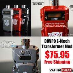 DOVPO E-Mech CNA30 30 Watt - $75.95 - http://vapingcheap.com/dovpo-e-mech-cna30-30-watt-75-95/