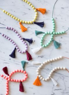 Make your little girl feel like a fashionista with these DIY Moroccan tassel necklaces!