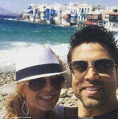 Real Housewife Tamra Judge goes on long postponed honeymoon with husband Eddie Douglas Booth, Real Housewives, Celebs, Celebrities, Holiday Destinations, Katy Perry, Pilot, Greece, Mens Sunglasses