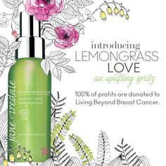 Love our Hydration Sprays? Then you'll adore our latest; Lemongrass Love. When you buy this beautifully scented spray, 100% of profits will be donated to Living Beyond Breast Cancer. Help us make a difference, and notice a difference in your skin.