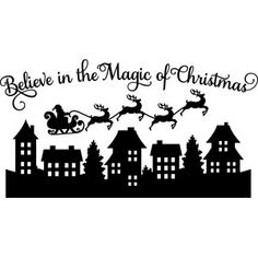 Silhouette Design Store - View Design believe in the magic of christmas scene Cricut Christmas Ideas, Christmas Window Decorations, Christmas Projects, Christmas Crafts, Christmas Costumes, Christmas Scenes, Noel Christmas, Christmas Baubles, Christmas Card Holders