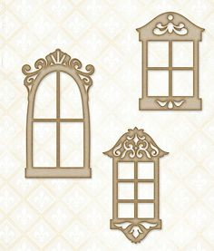 Blue Fern Studios - Chipboard - Petite Windows