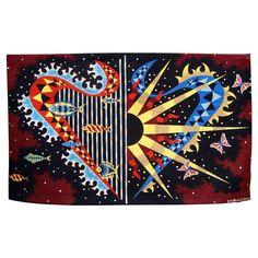 "1950-1960 ""Horizon Marin"" Aubusson Tapestry by J. Picart Ledoux"