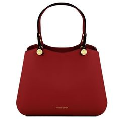 Borsa a mano in pelle Rosso Leather Duffle Bag, How To Make Handbags, Types Of Bag, Leather Handbags, Leather Bags, Italian Leather, Smooth Leather, Sale Items, Shoulder Strap