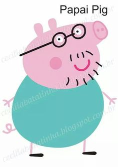 : Upon request - Moulds Peppa Pig and the gang Molde Peppa Pig, Fiestas Peppa Pig, Cumple Peppa Pig, Pig Crafts, Craft Stick Crafts, Felt Crafts, Pig Birthday, Minnie Birthday, Finger Puppet Patterns