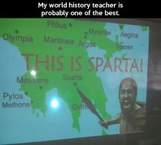 My world history teacher actually used the same exact picture 4 years ago when we went through Herodotus's Histories :) << I hope my history teacher will be like this